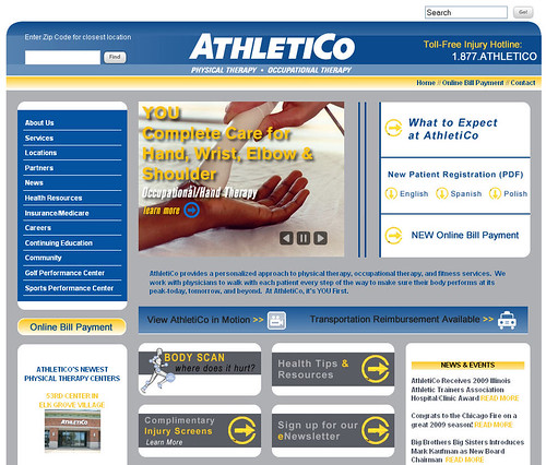 AthletiCo Physical Therapy Redesigned Site