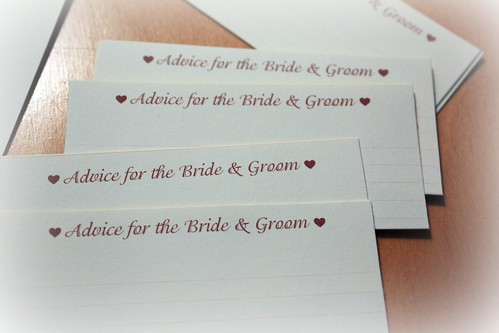 advice cards for bride and groom
