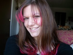Cheshire smile.... (Peacelion) Tags: pink girl smile punk cheshire style pinkhair prettyinpink