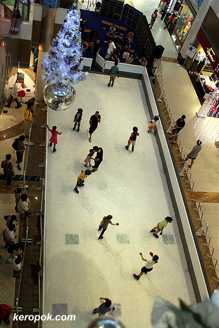 Ice Skating Rink in the mall