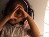 Pretty girl by the lamp (Sai Achanta) Tags: portrait uae devu