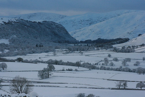 Snowy view towards Haweswater