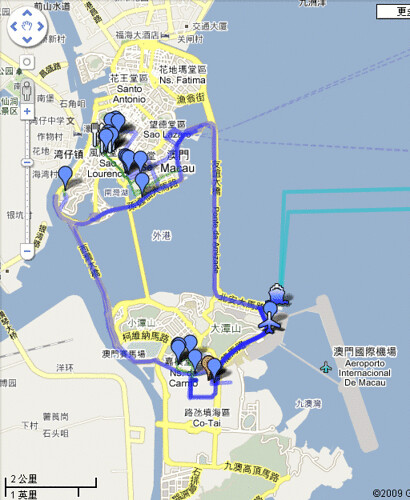 All Route in Macau
