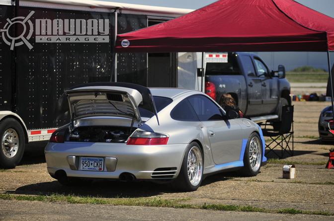 A Porsche in its natural habitat.