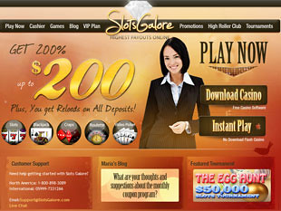 Slots Galore Casino Home