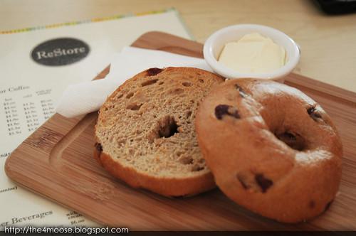 Restore - Freshly Baked Cinnamon-Raisin Bagels with Cream Cheese