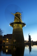 Blue Hour (Stefan Schinning) Tags: blue holland netherlands nikon windmills hour schiedam d90