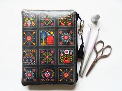 Waterproof pouch scandinavian folk wallet. (Jigglemawiggle) Tags: scandinavian folk waterproofwallet waterproofpouch sewingbag sewinggift smallstoragebag etsy folksy buyhandmade