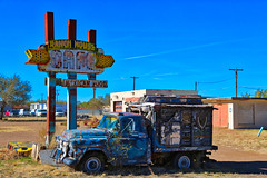 Ranch House Cafe along Route 66 (LoboTrey) Tags: route66 rt66 tucumcari newmexico nm highway history historical ranchhousecafe sky outside outdoor ngc sign street streetview food restaurant truck colors abandoned outdoors instagram cafe canon canon5d