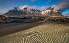 'Rippled Sands & Ridges' - Stokksnes - Mt Vestrahorn, Iceland (Kristofer Williams) Tags: iceland mountain beach coast stokksnes sand ripples cloud landscape sanddunes vestrahorn