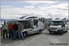 Marcel Heinig und Achim Heukemes - TEFR2009 Finisher auf der Rückfahrt vom Nordkap mit ihren Westfalia - Vans