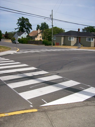 New crosswalks at Bowker & Hampshire