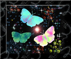FLUTTERBY MAGIC! (fantartsy JJ *2013 year of LOVE!*) Tags: light color love nature beauty birds photoshop stars peace magic joy butterflies legacy photoart aclass psbrushes originaldigitalart thesuperbmasterpiece ~~api~~