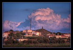 Cyprus afternnon light (Mike G. K.) Tags: houses light sunset clouds afternoon village hill violet cyprus hdr photomatix 3exp klirou  clerou mikegk:gettyimages=submitted