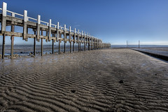 Grantville Pier (WilliamBullimore) Tags: reflection water pier wooden jetty australia victoria morningtonpeninsula mudflats grantville estremit