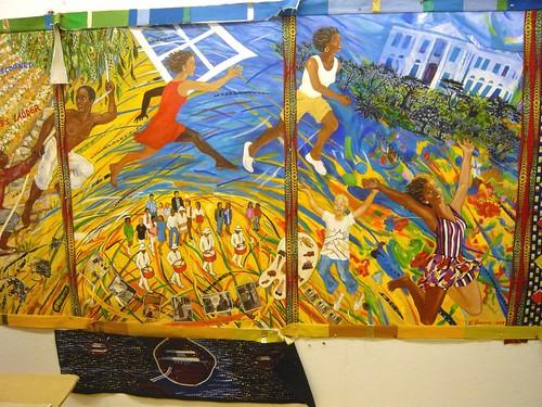 Triptych in progress