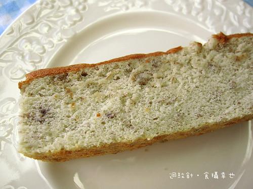 台青蕉香蕉蛋糕切片仔細看