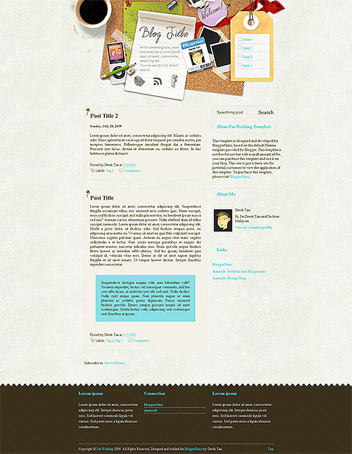 I'm Working Blogger Template
