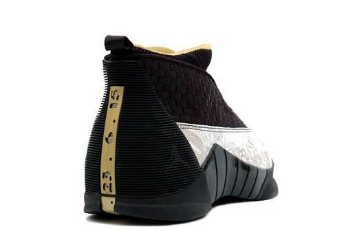 Air Jordan Retro 15 LS (black / metallic gold / white)