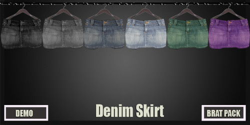 Adam n Eve @ The Deck - Bobbie-Denim-Skirt