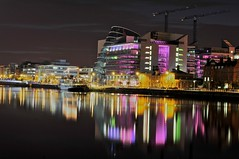 Dublin Convention Centre (shaymurphy) Tags: ireland dublin reflection building water night buildings river lights long exposure crane centre center irland liffey convention irlanda irlande ierland irska  irlandia irsko  airija northquays irlanti  iirimaa rorszg  rija rsko  dublinconventioncentre
