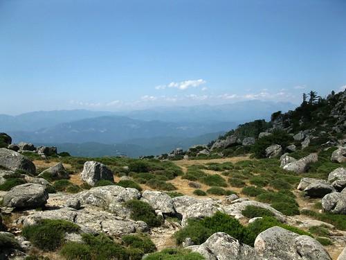 Col de Funtanella (1122 m) avant la descente sur Vignalella