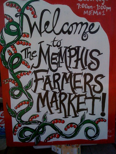 Memphis Farmers Market Sign