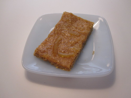 Lemon square, made from scratch - from groceries