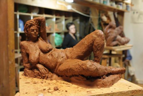 Sculpture allongée