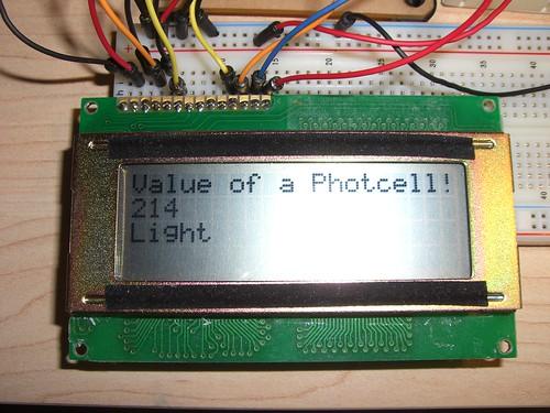 Arduino running a LCD screen
