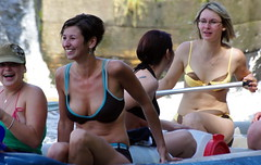 7.8.09 The Weir at Vyssi Brod 122 (donald judge) Tags: river boat canoe czechrepublic raft vltava vyssibrod