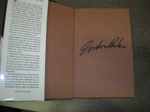 A cool signature from director Gordon Parks.