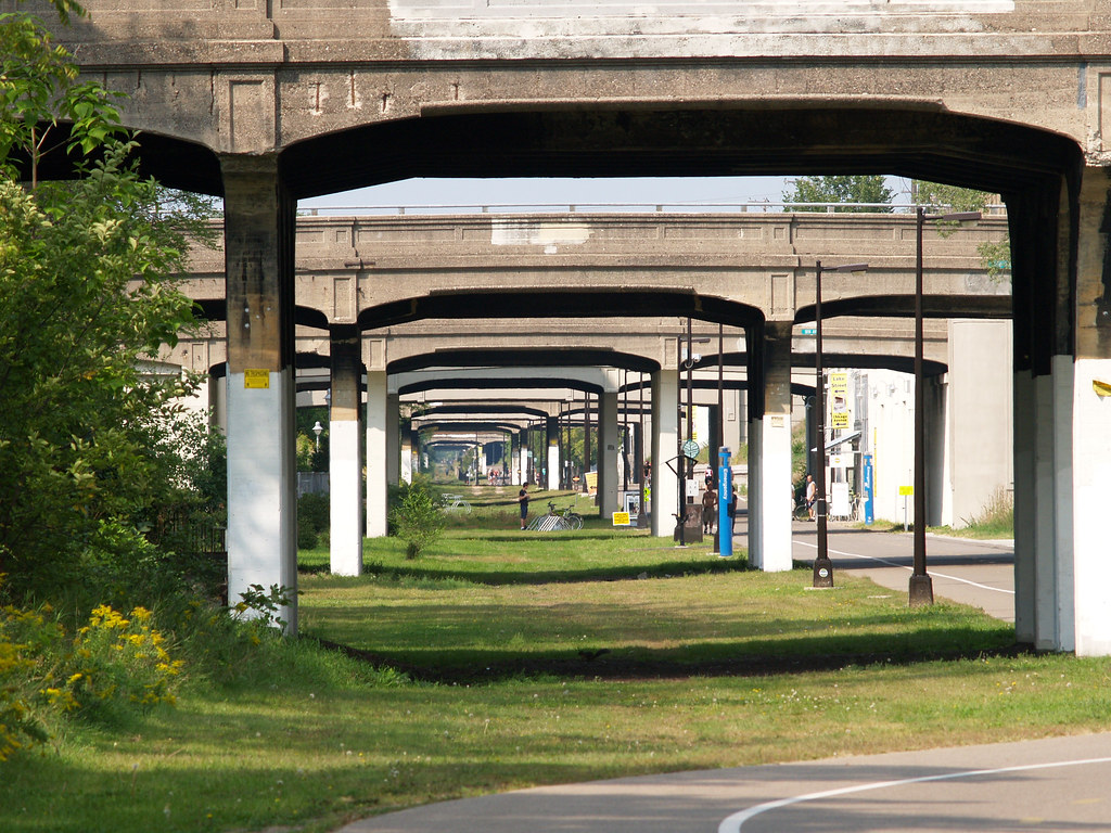 So many bridges over the Midtown Greenway