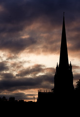 End of the Show (*Hairbear) Tags: sunset church silhouette bristol spire redcliffe stmary