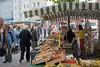 Stand auf dem Wochemarkt in Friedrichshafen