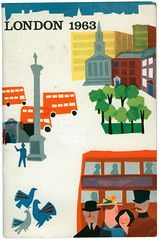 cover, london 1963 (maraid) Tags: bus london underground pigeons trafalgarsquare gift guide 1960s visitor nelsonscolumn 1963 barclaysbank ewfenton