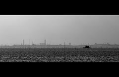 Lugubre (Fabrice Drevon) Tags: venice shadow italy white black water 35mm boat canal nikon dismal crane perspective laguna fr venizia burano dingy depressing lugubre d90 atmophere fabricedrevon