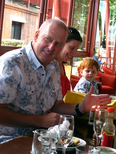 Pete's birthday breakfast at Eve's