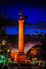 Darmstadt Luisenplatz and Ludwigs monument at Night (mbell1975) Tags: sunset monument night germany deutschland evening europa europe king dusk eu column ludwig darmstadt deutsch hesse ludwigs luisenplatz i