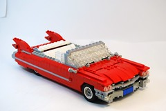 1959 Cadillac Series 62 Convertible - Brick Build (lego911) Tags: auto usa car model gm lego convertible cadillac american americana 1959 lugnuts generalmotors moc series62 foitsop