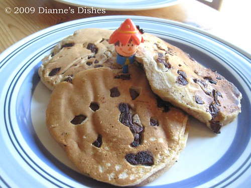 Pumpkin Chocolate Chunk Pancakes