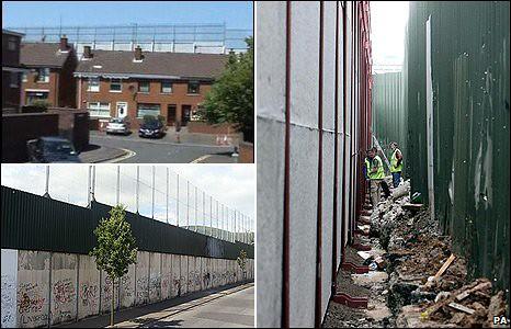 Linhas (Muro) da Paz - Irlanda do Norte - bbc
