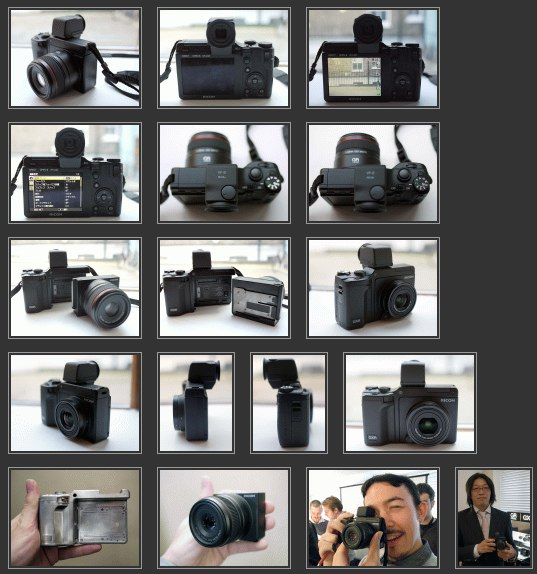 Ricoh GXR press release and product images at PhotographyBlog