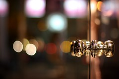 not 318/365 (helen sotiriadis) Tags: street door reflection glass shop night canon dof bokeh athens depthoffield greece chrome doorknob 365 handles canonef50mmf14usm kifissia canoneos40d toomanytribbles updatecollection