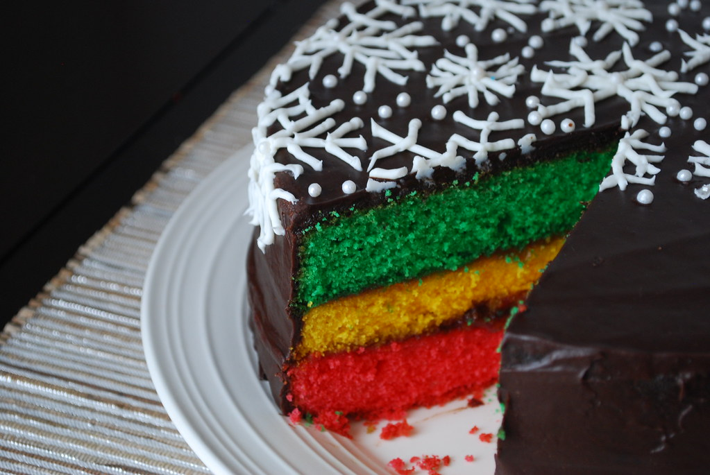 Cake Recipes Rainbow: Italian Rainbow Cookie Cake