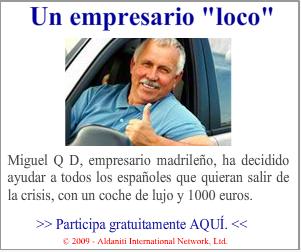 Anuncio del empresario loco que te regala un coche de lujo y 1000 euros