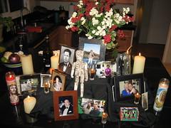 Our Dia de los Muertos altar. (11/01/2009)