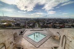 Yerevan Now /   (Seroujo) Tags: art skyline museum canon eos cityscape wideangle tokina mount armenia yerevan 11mm hdr masis ararat 500d  massis cafesjian     t1i  cafesjianmuseumofart