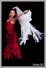 Mantn al vuelo (Emilio JCT) Tags: portrait espaa canon dance dress retrato spanish typical gypsy baile flamenco vestido manton gitana flickraward