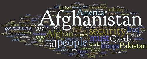 Wordle of President Obama's Speech on Afghanistan